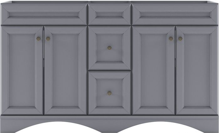 Virtu USA - ED-25060-CAB-GR - Talisa 60 in. Bathroom Vanity Cabinet white background