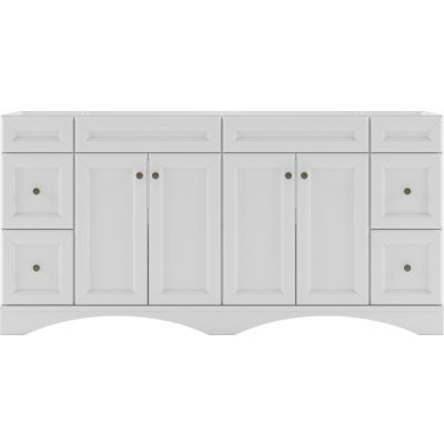 Virtu USA - ED-25072-CAB-WH - Talisa 72 in. Bathroom Vanity Cabinet front view