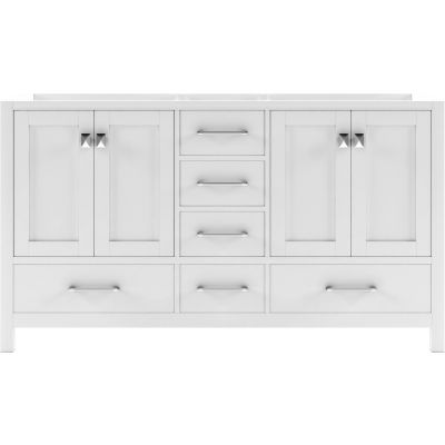 Virtu USA - GD-50060-CAB-WH - Caroline Avenue 60 in. Bathroom Vanity Cabinet front view