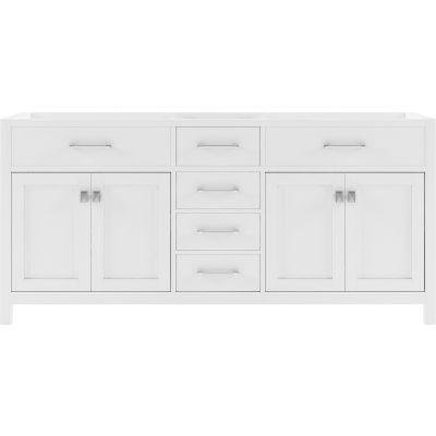 Virtu USA - MD-2072-CAB-WH - Caroline 72 in. Bathroom Vanity Cabinet front view