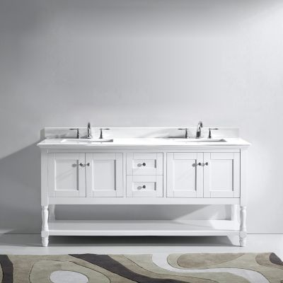 Virtu USA - MD-3172-WMSQ-WH - Julianna 72 in. Bathroom Vanity Set front view