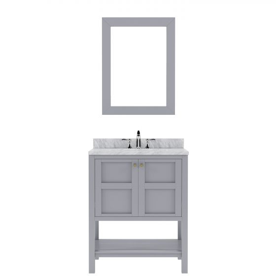 Virtu USA - ES-30030-WMRO-GR - Winterfell 30 in. Bathroom Vanity Set white background