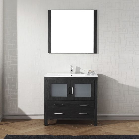 Virtu USA - KS-70036-C-ZG - Dior 36 in. Bathroom Vanity Set front view