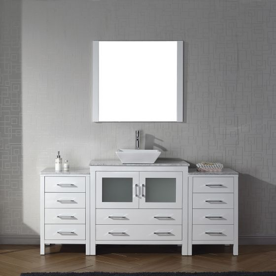 Virtu USA - KS-70072-WM-WH - Dior 72 in. Bathroom Vanity Set front view