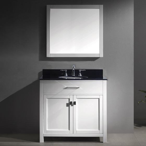 Virtu USA - MS-2036-BGRO-WH-001 - Caroline 36 in. Bathroom Vanity Set front view