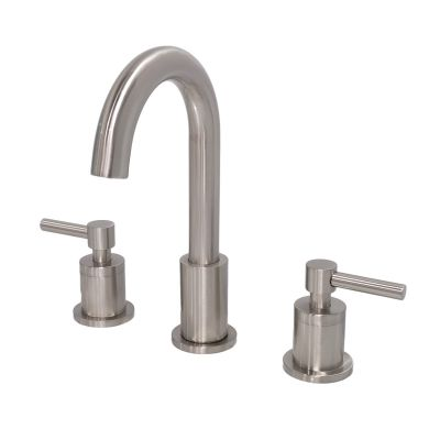 Kobo 8 in. Widespread 2-Handle Bathroom Vanity Faucet in Brushed Nickel