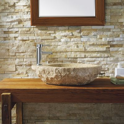 Virtu USA - VST-2075-BAS - Elysia Natural Stone Bathroom Vessel Sink in G682 Granite