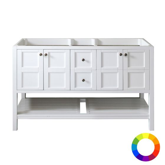"""Virtu USA - ED-30060-CAB - Winterfell 60"""" Double Vanity Cabinet Only"""