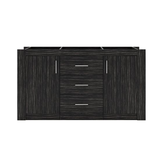 """Tavian 60"""" (KD-90060-CAB-MO) Cabinet Only in Midnight Oak"""