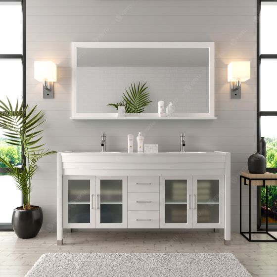 Virtu USA - MD-499-S-WH - Ava 63 in. Bathroom Vanity Set front view