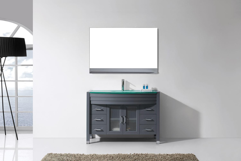 Virtu USA - MS-509-G-GR - Ava 48 in. Bathroom Vanity Set