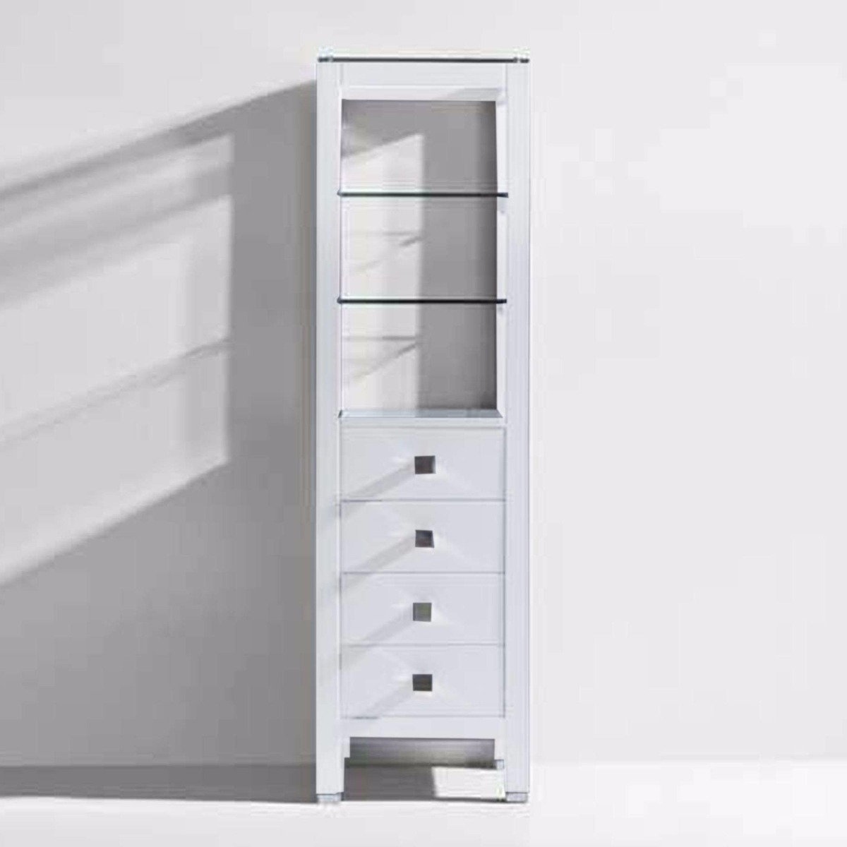 Virtu USA - MDC-489-WH - Cailey 16 inch Linen Cabinet in White