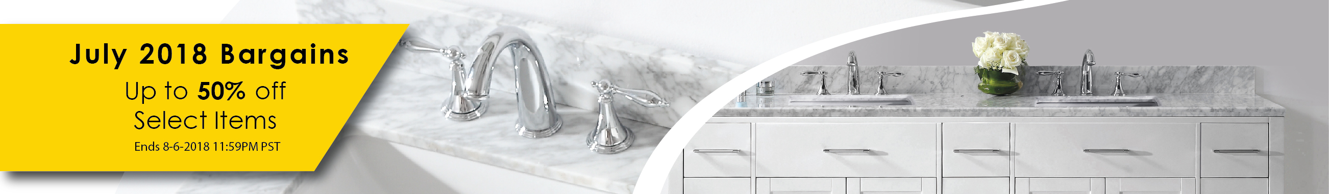 July 2018 Bathroom Vanity Sale