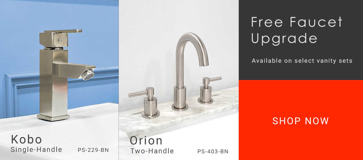 Free Faucet Promo Upgrade Bathroom Vanities