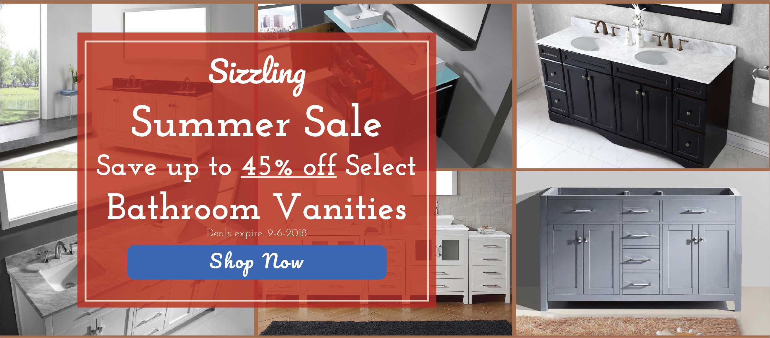 Summer Bathroom Vanity Sale