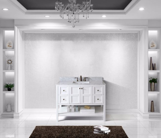 Virtu USA - ES-30048-WMSQ-WH-NM - Winterfell 48 in. Bathroom Vanity Set front view