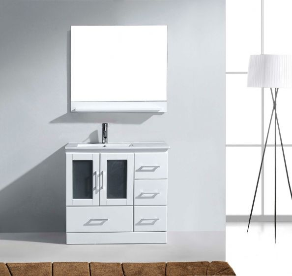 Virtu USA - MS-6736-C-WH-001 - Zola 36 in. Bathroom Vanity Set Close Up