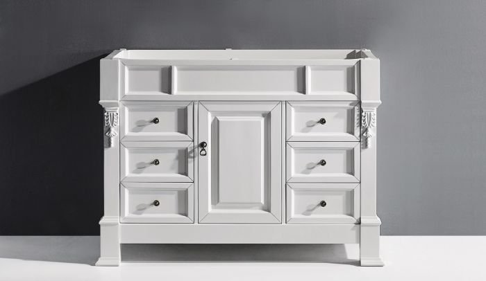 "Huntshire Manor 48"" (MS-2948-CAB-WH) Cabinet Only in White"