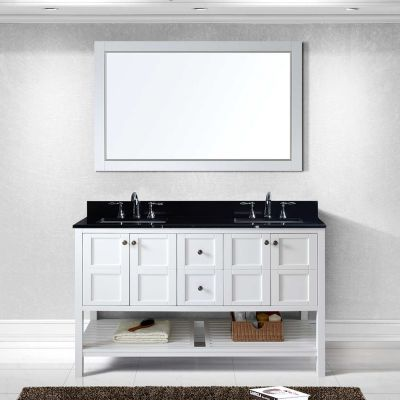 Virtu USA - ED-30060-BGSQ-WH - Winterfell 60 in. Bathroom Vanity Set front view