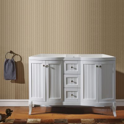 Virtu USA - ED-52060-CAB-WH - Khaleesi 60 in. Bathroom Vanity Cabinet front view