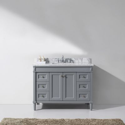 Virtu USA - ES-40048-WMSQ-GR-NM - Tiffany 48 in. Bathroom Vanity Set front view