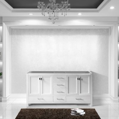 Virtu USA - GD-50072-CAB-WH - Caroline Avenue 72 in. Bathroom Vanity Cabinet front view