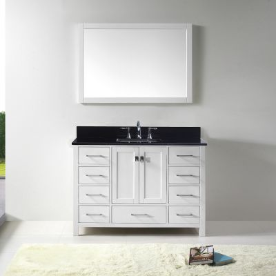 Virtu USA - GS-50048-BGSQ-WH - Caroline Avenue 48 in. Bathroom Vanity Set front view