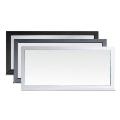 Ava 71 in. W x 32.2 in. H Framed Mirror with Shelf in Multiple Colors