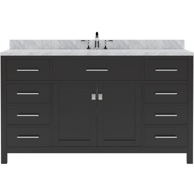 Virtu USA - MS-2060-WMSQ-ES - Caroline 60 in. Bathroom Vanity Set front view