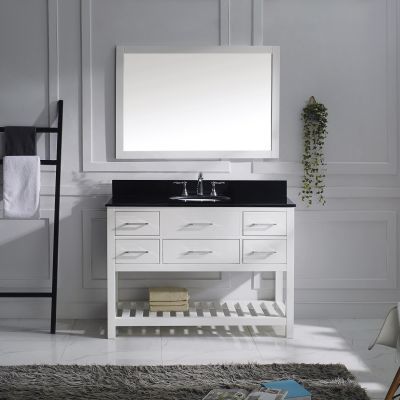 Virtu USA - MS-2248-BGRO-WH - Caroline Estate 48 in. Bathroom Vanity Set front view
