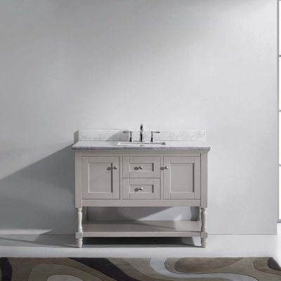 Virtu USA - MS-3148-WMSQ-CG-NM - Julianna 60 in. Bathroom Vanity Set front view