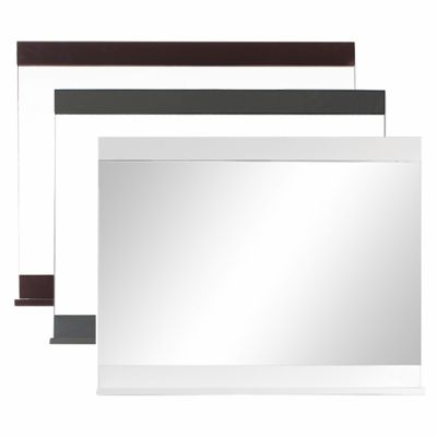 Ava 35.4 in. W x 31.5 in. H Mirror with Shelf in Multiple Colors
