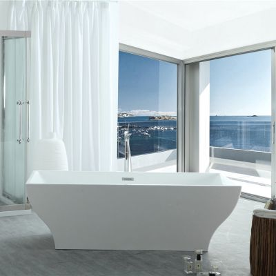 Virtu USA - VTU-1271 - Serenity 71 in.x 31.5 in. Bathtub front view