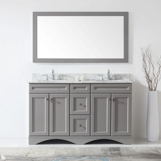 Virtu USA - ED-25060-WMRO-GR - Talisa 60 in. Bathroom Vanity Set front view