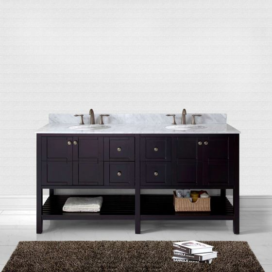 Virtu USA - ED-30072-WMRO-ES-NM - Winterfell 72 in. Bathroom Vanity Set front view