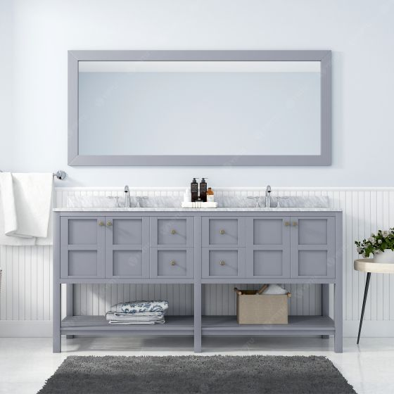 Virtu USA - ED-30072-WMRO-GR - Winterfell 72 in. Bathroom Vanity Set front view