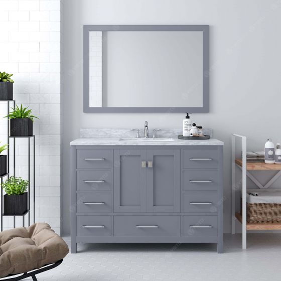 Virtu USA - GS-50048-WMRO-GR-002 - Caroline Avenue 48 in. Bathroom Vanity Set front view