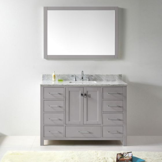 Virtu USA - GS-50048-WMSQ-CG-001 - Caroline Avenue 48 in. Bathroom Vanity Set front view
