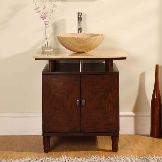 Silkroad Exclusive - HYP-0808N-T-29 - Lydia 29 in. Bathroom Vanity Set front view