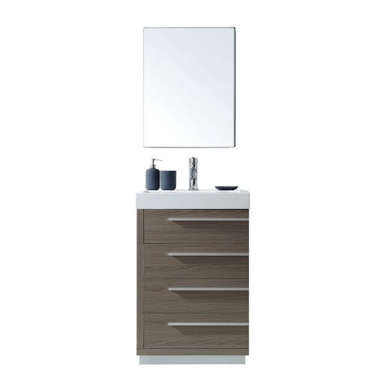 Virtu USA - JS-50524-GO - Bailey 24 in. Bathroom Vanity Set white background