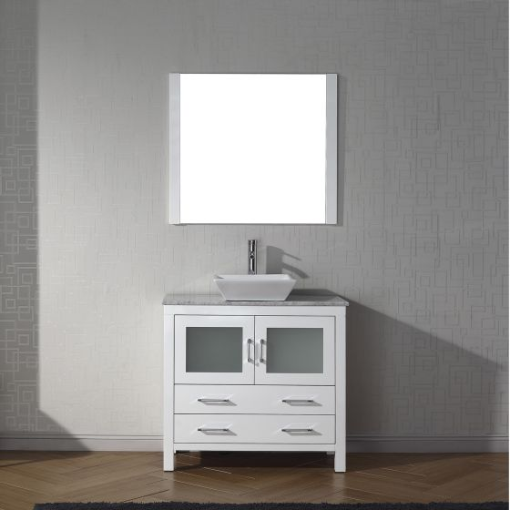 Virtu USA - KS-70036-WM-WH - Dior 36 in. Bathroom Vanity Set front view