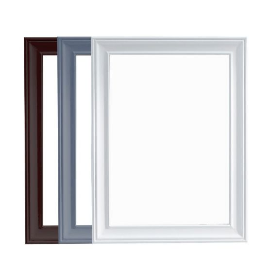 Virtu USA - Victoria 23.6 in. W x 31.5 in. H Bevel Framed Mirror in Multiple Colors whitebackground front view