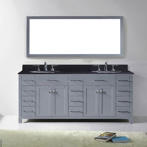 Virtu USA - MD-2178-BGRO-GR - Caroline Parkway 78 in. Bathroom Vanity Set front view