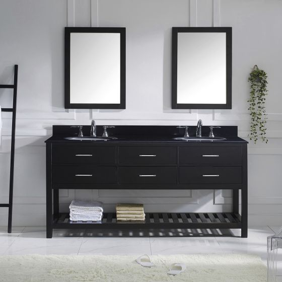 Virtu USA - MD-2272-BGRO-ES - Caroline Estate 72 in. Bathroom Vanity Set front view