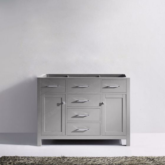 "Virtu USA - MS-2048-CAB-CG - Caroline 48"" Bathroom Vanity Cabinet Only in Cashmere Grey"