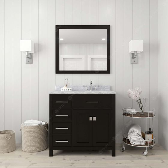 Virtu USA - MS-2136L-WMRO-ES - Caroline Parkway 36 in. Bathroom Vanity Set front view