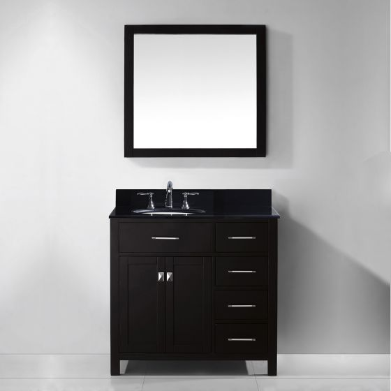 Virtu USA - MS-2136R-BGRO-ES-001 - Virtu USA Caroline Parkway 36 in. Bathroom Vanity Set front view