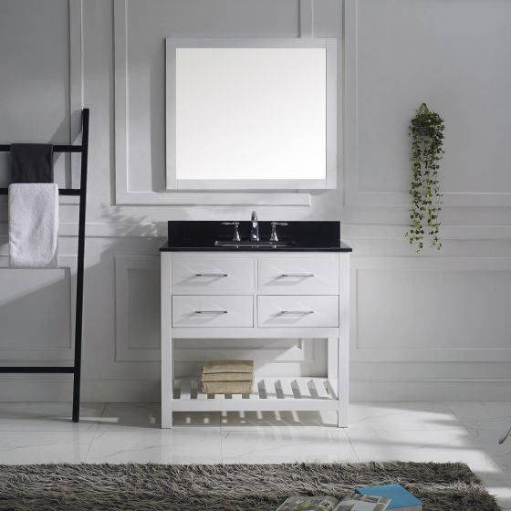 Virtu USA - MS-2236-BGSQ-WH-001 - Caroline Estate 36 in. Bathroom Vanity Set front view