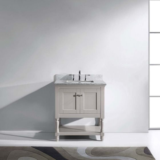 Virtu USA - MS-3132-WMSQ-CG-NM - Julianna 60 in. Bathroom Vanity Set front view