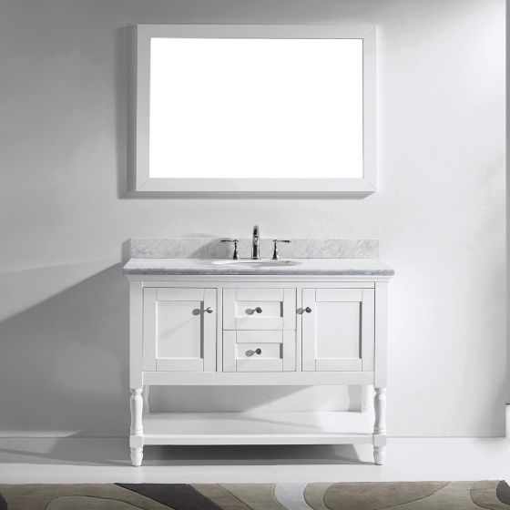 Virtu USA - MS-3148-WMRO-WH - Julianna 48 in. Bathroom Vanity Set front view